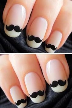 Nails with Moustache