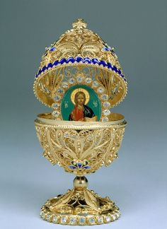Carl Faberge Egg :: Religious Pictures were often inside