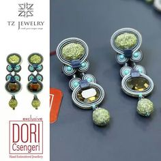 Spring is here and we're seeing green all around us....our Esprit earrings on display at TZ Jewelry. #DoriCsengeri #springcolors #casualchic #earrings