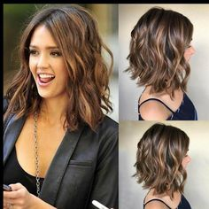 Details about UK Fashion Women Brown Ombre Short Curly Wigs Ladies Natural Wavy Hair Wig in 2020 Medium Hair Cuts, Medium Hair Styles, Curly Hair Styles, Natural Hair Styles, Ladies Hair Styles, Natural Wavy Hair Cuts, Cuts For Thick Hair, Hair Color Ideas For Brunettes Short, Haircuts For Wavy Hair