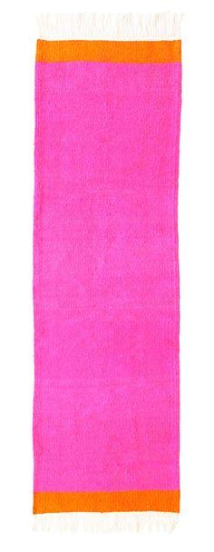 pink and orange runner rug designed by kira-cph.com
