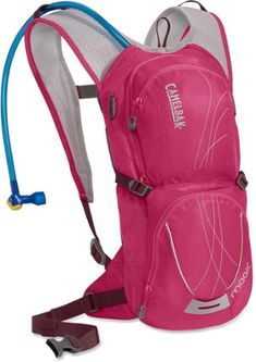 The women's CamelBak Magic hydration pack sports a gender-specific design for excellent comfort, plus gear storage and a 70 fl. oz. reservoir for quick mountain biking sessions.