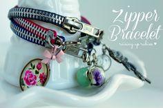 Raising up Rubies: a zipper bracelet tutorial ... ♥