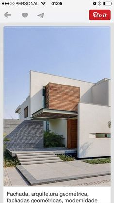 Fachada minimalista #fachadasminimalistasmadera