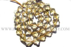 Gemstone Beads, Amazing New Shape Flower Faceted Cut Citrine / (Quality AA) / 9 to 10.5 mm / 36 cm / CI-190 / Semiprecious Stone by beadsogemstone on Etsy #citrinebeads #gemstonebeads #semipreciousstones #briolettes