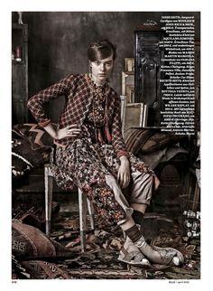 Die Neue Boheme: Renee Meijer And Gwen Loos By Carl Bengtsson For Elle Germany April 2015