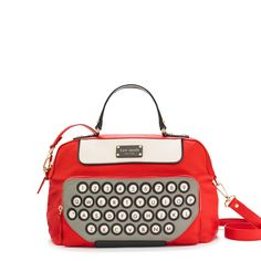 All Typed Up Clyde by Kate Spade: Retro fun in glossy Italian leather. On sale $346