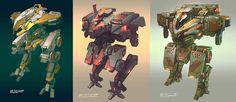 concept robots: Mech art by Daniel Graffenberger