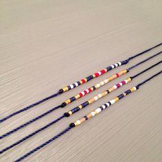 marine friendship bracelet wish bracelet best friend string bracelet Bracelet is made of a Miyuki Delica beads and silk thread.This handmade