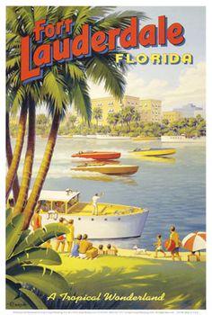 Affiche ancienne ( La Floride)