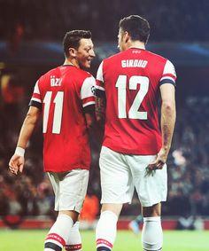 Ozil and Giroud #Arsenal