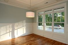 3/1 window pane sequence....The dining room in the Franklin Craftman built by Homes By Dickerson.