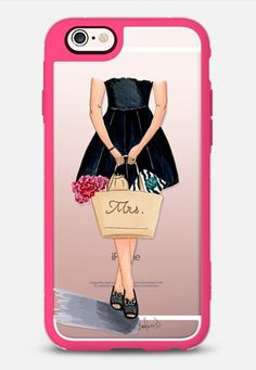 Kate Spade inspired fashion illustration - New Standard case in Pink and Clear by The Pink Pretty Studio | @casetify