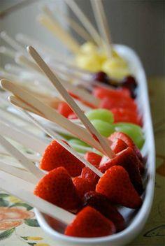 Fresh Fruit Lollipops!