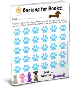 I created a nightly homework reading log that students can track how many minutes they have read in a month. As they read, they fill in a blank paw. Free!