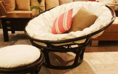 Ahh... The Papasan.  Always wanted one.  Getting one today. :)