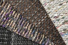 REused carpets are made of recycled materials used by locals in India