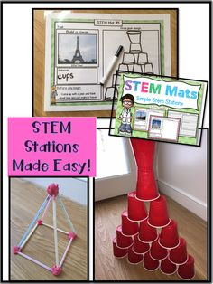 STEM Stations Made Easy!  Add a little STEM to your classroom with these fun mats!