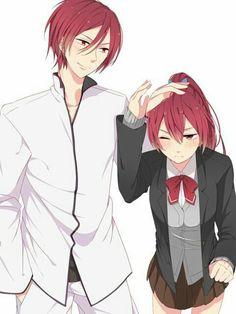 Matsuoka Rin and Matsuoka Gou Anime Nerd, All Anime, Manga Anime, Anime Siblings, Anime Couples, Gou Matsuoka, Swimming Anime, Free Eternal Summer, Splash Free