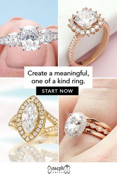 Our designers will create a unique engagement ring to match your style, whether you like diamonds, sapphires, moissanite, lab diamonds, rose gold, platinum, or hand engraving. Tap to begin! Design Your Own Ring, Womens Wedding Bands, Lab Diamonds, Gold Platinum, Rose Gold Engagement Ring, Hand Engraving, Moissanite, Jewelry Trends, Custom Jewelry