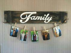 Usa una tabla y pinzas de ropa para crear un bello porta fotos