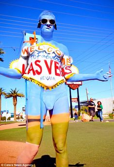 Todd wanted to be painted as the famous Las Vegas sign