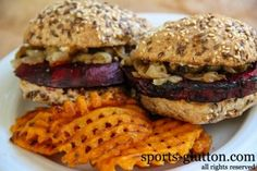 beet burger recipe with goat cheese and caramelized onions IMG_2904