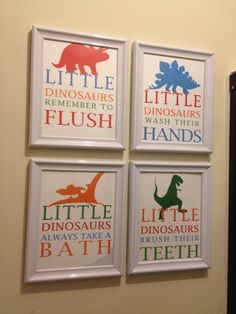 Gentil Boys Dinosaur Bathroom.