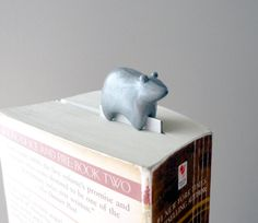 Bookmark bear handmade polymer clay animal the king of the forest. €15.00, via Etsy.