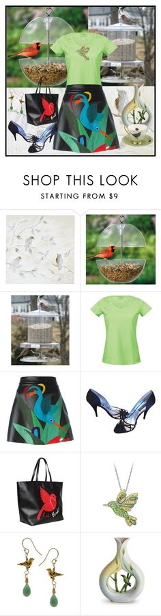 """""""BIRDS in my outfit"""" by fantasiegirl ❤ liked on Polyvore featuring Pier 1 Imports, Improvements, Bergans, P.A.R.O.S.H., Badgley Mischka, RED Valentino, Charming Life, Franz Collection and Melody Rose"""