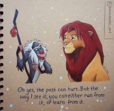Drawing quotes disney the lion king 29 ideas Rafiki Quotes, Lion King Quotes, Disney Dream, Disney Love, Disney Art, Drawing Cartoon Characters, Cartoon Drawings, Drawing Quotes, Drawing Art