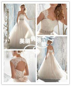 2014 New white A-Line wedding dress Gown custom size 6-8-10-12-14-16-18+++++++++