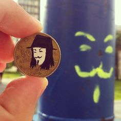 pop culture portraits painted onto coins by andre levy