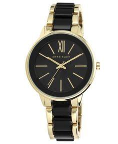 Anne Klein Women's Black and Gold-Tone Bracelet Watch 37mm AK-1412BKGB   macys.com