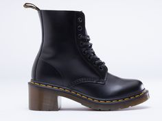 Dr. Martens Clemency in Black Smooth at Solestruck.com
