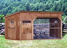 x Walk in Modern Chicken Coop Plans, Design : Plans are for a classic combination style chicken coop, comfortably house up to twelve chickens. There are six nesting boxes and three roost bars, plenty of space for the chickens.