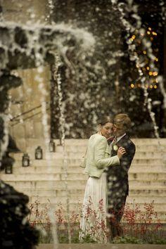 Pre wedding portrait taken in the garden of the St james hotel in Paris by WeddingLight photographer Olivier Lalin