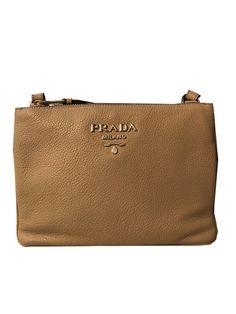 07b1ca627ac4 Prada Women s Beige Vitello Phenix Leather Crossbody 1BH046  Prada  QueenBee   Fendi  QueenBeeofBeverlyHills