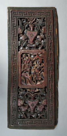 Chinese Carved Wooden Panels Painted Vintage Deeply Dragons Bed Panel Pannels In 2018 Dragon