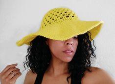 Granny Stitch Sun Hat Crochet Pattern Crochet Summer Hats, Crochet Summer Dresses, All Free Crochet, Crochet Hats, Beach Cover Up Skirt, Easy Crochet Slippers, Spring Hats, Single Crochet Stitch, Double Crochet