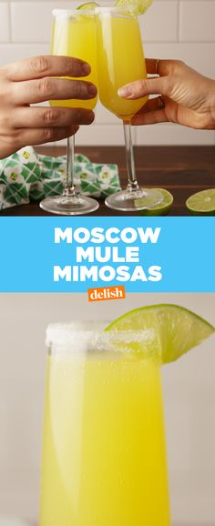 Is it even brunch if you don't make Moscow Mule Mimosas? Get the recipe at Delish.com.