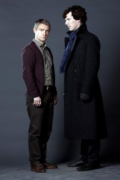 I love that Sherlock is always looking at John in these pictures.  :)