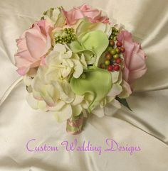 Real Touch Wedding Bouquet in Mint and by Customweddingdesigns, $115.00