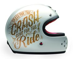 Gold motorcycle helmet lettering by Jen Mussari on Design Work Life. Harley Davidson, Rockers, Ruby Helmets, Inspiration Typographie, Vintage Helmet, Custom Helmets, Ex Machina, Helmet Design, Riding Gear