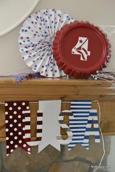 Red white and blue U
