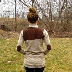 DIY Clothes DIY Refashion : DIY Sweater + Cardi Multi-Patch Refashion
