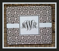 Mouse Pad Monogrammed Gifts Personalized Mousepad by ChicMonogram, $16.00