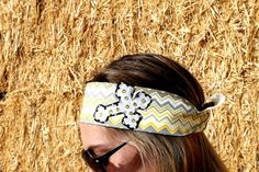 Grey Cross on Yellow and Grey Chevron Bandana by RuralHaze on Etsy, $11.99. Use Code: PINTEREST01 to receive 10% off any order!