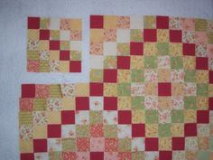 Quilting on Main Street: Tutorial For Many Trips Around the World Quilt Block. Love the colors!