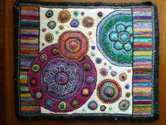 I luv Circles! rug hooked by Shanna Orgovan